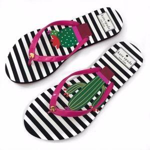 New Kate Spade • Cactus Stripe Flip Flops